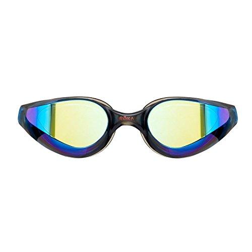 ROKA R1 Anti-Fog Swim Goggles with RAPIDSIGHT Razor Sharp Optics - Cobalt Mirror (Limited - Roka Swim