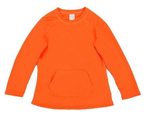 beautyin Long Sleeve Rashguard Shirts for Girls Solid Swimming Top Sun Shirts 10