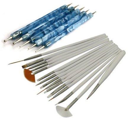 4 opinioni per SODIAL(TM)- Set da 15 pezzi per decorazione delle unghie, pennelli bianchi e 5