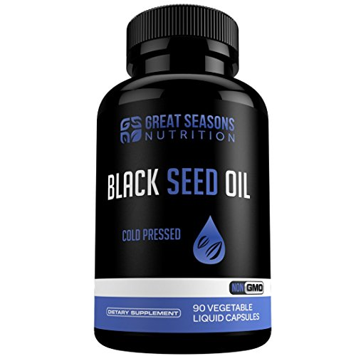 Great Seasons Nutrition Black Seed Oil - Vegetarian Capsules, Nigella Sativa Black Cumin Seeds Oil (or Kalonji Oil) for Immune and Digestive Support, Healthy Heart and Healthy Joints by Great Seasons Nutrition