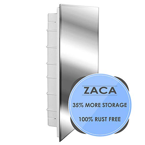 Zaca Spacecab Media Recessed Medicine Cabinet, 16