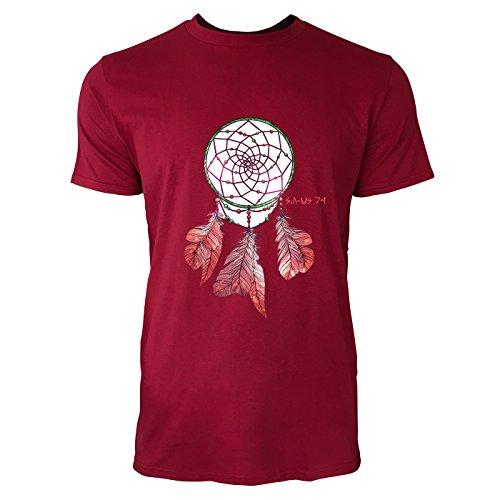 SINUS ART® Bunter Traumfänger Herren T-Shirts in Independence Rot Fun Shirt mit tollen Aufdruck