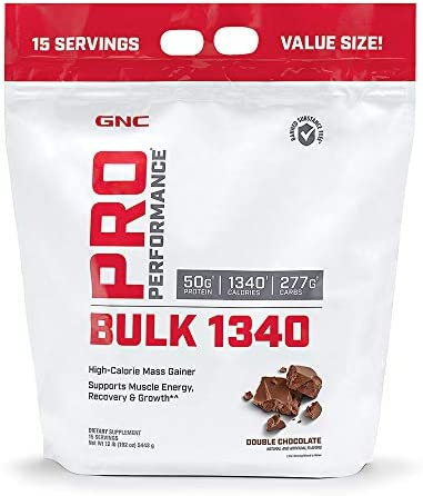 GNC Pro Performance Bulk 1340 – Double Chocolate, 15 Servings, Supports Muscle Energy, Recovery and Growth