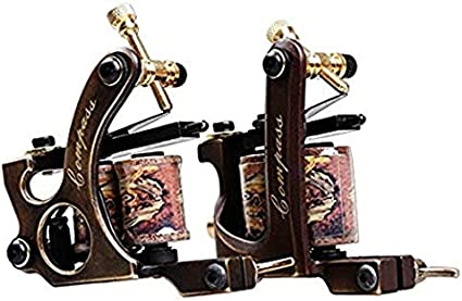 Dragonhawk 2 Brass Tattoo Machine Straight Shader Circle Liner ...