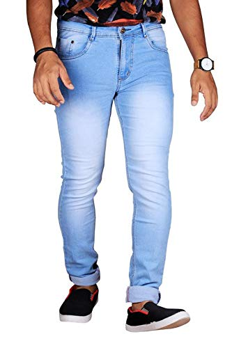 L,Zard Men\'s Slim Fit Jeans