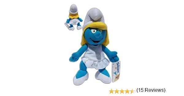 Pitufina 32cm Muñeco Peluche Azul Los Pitufos TV Smurfs: Amazon.es ...