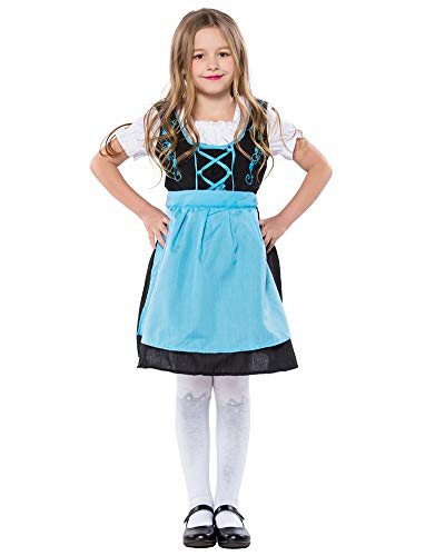 yolsun Oktoberfest Halloween Costume for Girls Dirndl Bavarian Dress up (M
