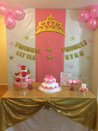 Zdada Rectangular 52x70 Gold Sequin Tablecloth Bride Shower Tablecloth for Wedding ()