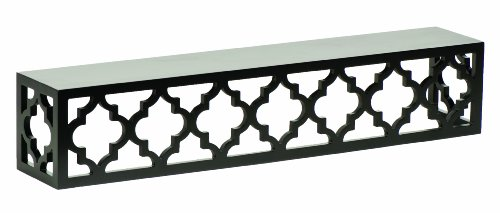- Burnes of Boston Moroccan Lattice Ledge, 24-Inch, Black