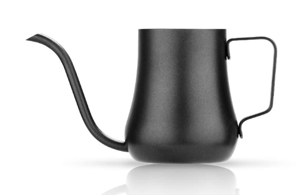 Acquisto WQWQ Caffettiera in Acciaio Inossidabile – Nera  Teflon Pentola a Collo di Cigno per la casa – 280 ml  per Cucina, Ufficio, caffè Prezzi offerta