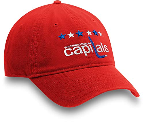 Football Fanatics NHL Mens Washington Capitals Alternate Jersey Red Adjustable Hat(OneSize)