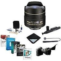 Nikon 10.5mm f/2.8G ED-IF AF DX Fish-eye NIKKOR Lens F/DSLR - USA. Warranty - Bundle w/Pro Software