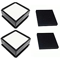 Green Label 2 Pack For Dirt Devil F66 HEPA and Foam Filter Kit for Upright Vacuum Cleaners. Compares to 304708001
