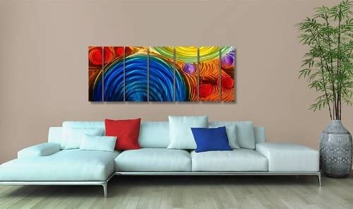 Statements2000 Abstract Rainbow Large Metal Wall Art - the best wall sculpture for the money