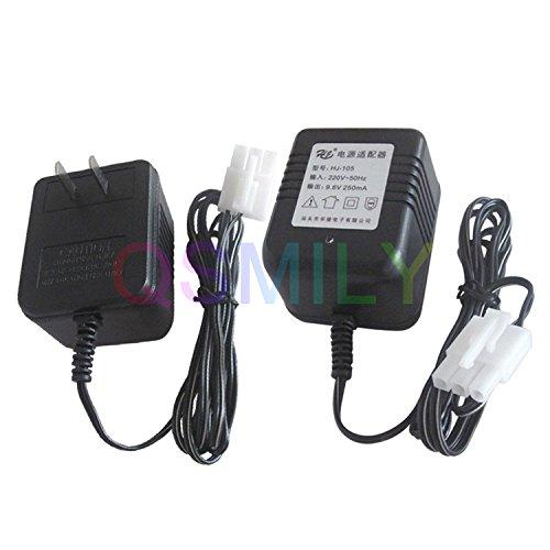 Qsmily US Charger Adapter KET 3P Plug for Huanqi HQ 520 618 627 RC Car Moto Ni-MH Ni-Cd 9.6V AA Battery Pack