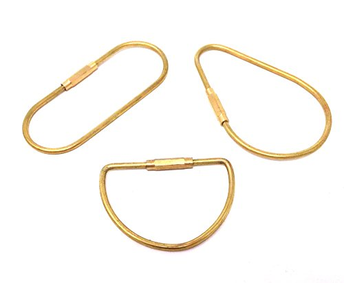 - Honbay 3pcs Different Shape Brass Key Ring Key Holder