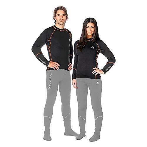 Waterproof New Tusa Unisex BodyTec Double Layer Top (3X-Large) 260 Gram Polyester Spandex Drysuit Undergarment, Surface Wear Sleepwear at the Base Camp