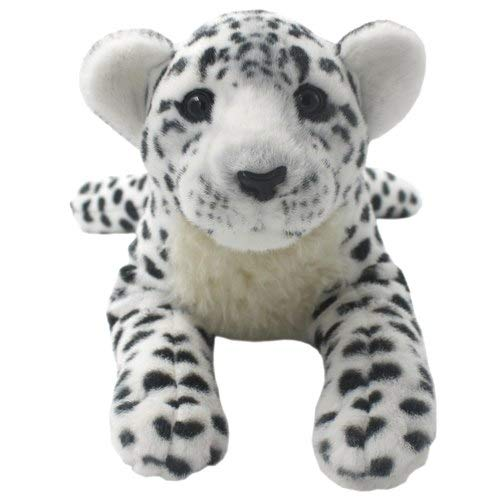 FairOnly Realistic Stuffed Animals Toys Tiger Leopard Lion Panther Lioness Cheetah Plush Pillows for Kids' Birthday Gifts,40 cm White Cheetah