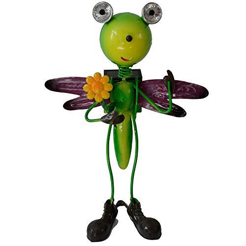 (BroGarden Solar Garden Lights-Best Decor Ornament for Garden/Patio/Yard(Green, Dragonfly))