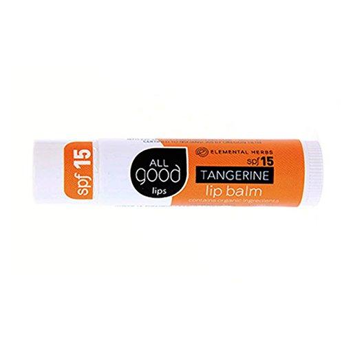 All Good Lips Organic Lip Balm SPF 12 Tangerine