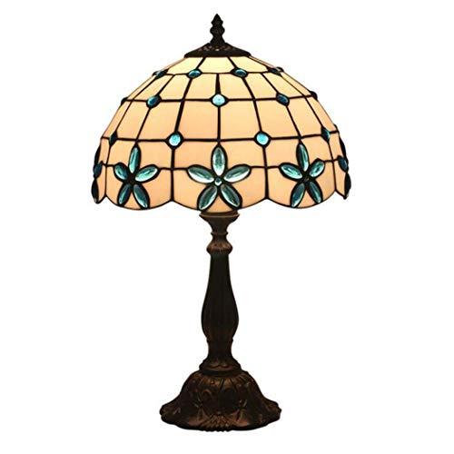 GJX lámpara de Mesa Estilo Tiffany, 12-Inch vitrales Lila Design ...
