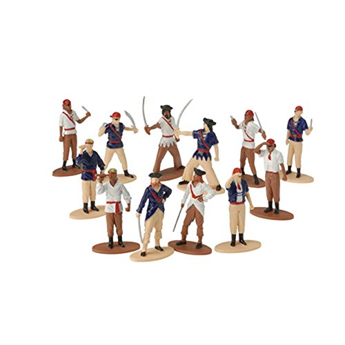 Plastic Pirate - US Toy Pirate Toy Figures (Set of 12), Assorted