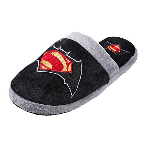Officiel v DC Comics Batman Superman Movie Logo Design Mule Slip sur chaussons
