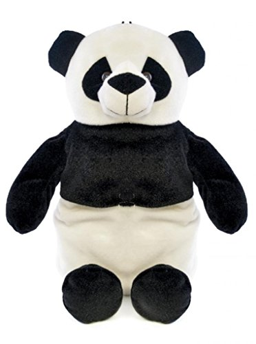 Plush 3D Animal Hot Water Bottle & Cover 750ml - Panda (Hot Water Bottle Made In England)
