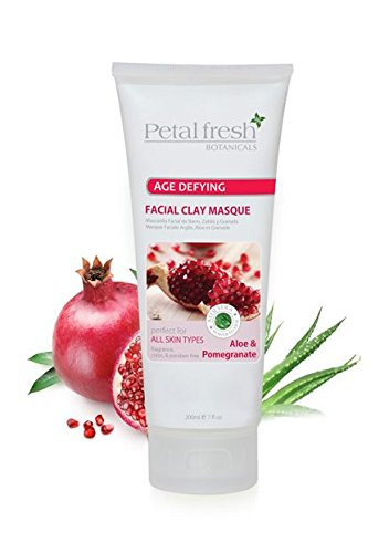 Petal Fresh, Botanicals Age Defying Facial Clay Masque, Aloe & Pomegranate, 7 fl oz (pack of 6) Fashionyard Vitamin C Serum Anti-Aging Wrinkle Organic Serum For Face Skin Care