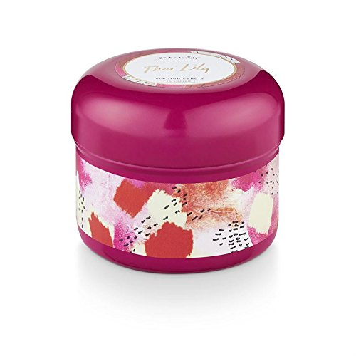 Illume Go Be Lovely Tin Scented Soy Candle 6.7oz/190g (Thai Lily)
