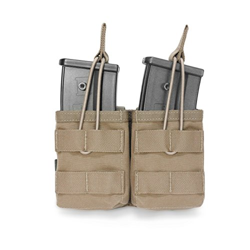 G36 Mag Pouch - Warrior Assault Systems Bungee Retention Double MOLLE Open G36 Mag Pouch (2 Magazine), Coyote Tan