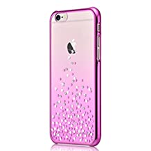 iPhone 6S 6 Case, Comma iPhone 6 Cover Shining Crystal diamond Case Cover for Apple iPhone 6 /6s Rose Pink