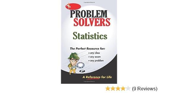 Amazon statistics problem solver problem solvers solution amazon statistics problem solver problem solvers solution guides 9780878915156 the editors of rea books fandeluxe Choice Image