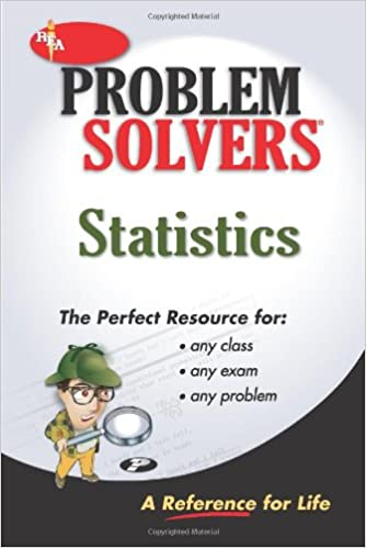 amazon com statistics problem solver problem solvers solution  statistics problem solver problem solvers solution guides reissue edition