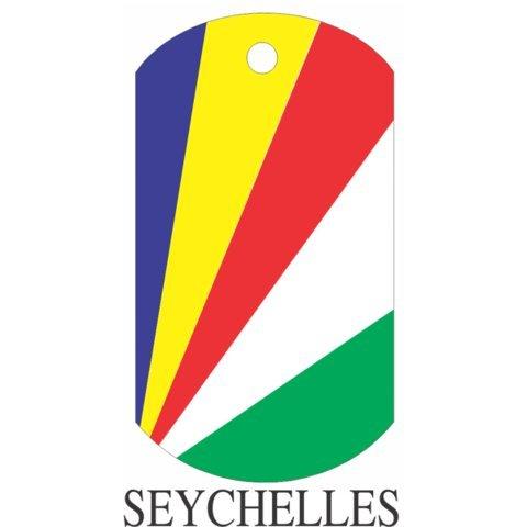 Seychelles Flag Dog Tags - 3 Pieces