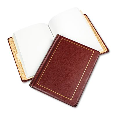 Looseleaf Minute Book, Red Leather-Like Cover, 125 Pages (250 Cap), 8 1/2 x 11, Sold as 1 Each