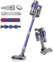 Laresar Cordless Vacuum Cleaner,26Kpa Powerful Suction Stick Vacuum,Lightweight Handheld Vacuum for Hard Floor