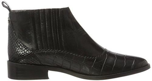 Stivaletti Nero Calf COPENHAGEN Donna Boot Flat GARDENIA Black Pointy qxI6HwFHa
