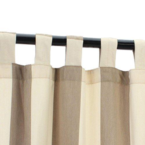 Sunbrella Outdoor Curtain with Tabs - Regency Sand - 50