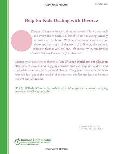 The Divorce Workbook for Children: Help for Kids to Overcome ...