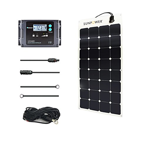 Renogy 100 Watt 12 Volt Solar Marine Kit with Sunpower Flexible Solar Panel and Waterproof Charge Controller by Renogy