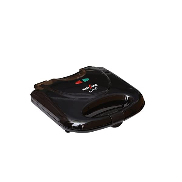 Kenstar Grilli 750-Watt Sandwich Maker (Black) 2021 July Cool touch housing Non stick coating Power ON and Cut OFF Indicator