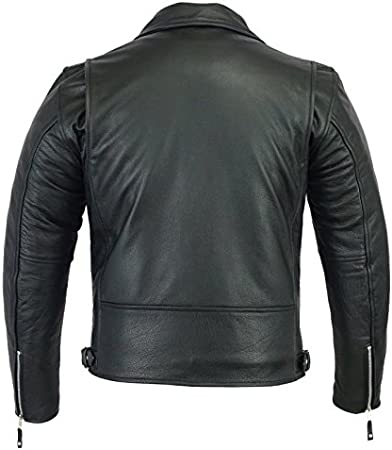 Medium A/&H Apparel Mens Leather Motorcycle Jacket Genuine Cowhide Zip Out Lining Jacket