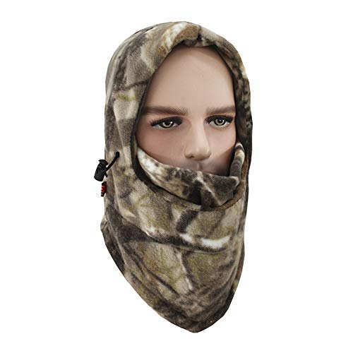 Balaclava Face Mask for Cold Weather Windproof, Anti-Cold, Breathable, Warm with Men or Women Thick Ski Fleece Hood(camo)