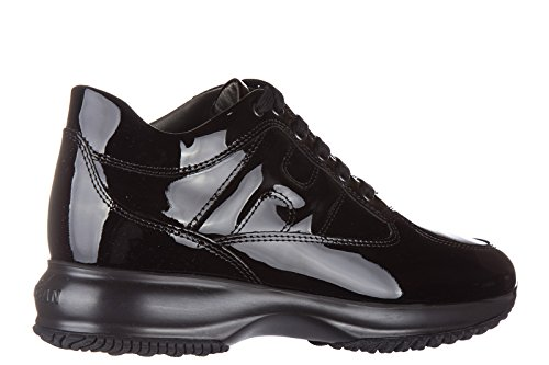 Hogan chaussures baskets sneakers femme en cuir interactive allacciata vernis no