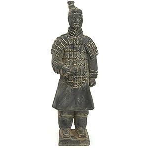 """Oriental Furniture 14"""" Xian Terra Cotta Warrior"""