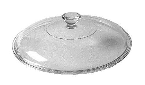 Corning Ware / Pyrex Clear Round Glass Lid ( Ribbed ) ( 8 1/4