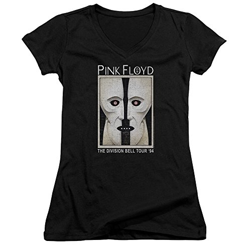 Pink Floyd - The Division Bell Tour '94 - Juniors V-Neck Cap Sleeve T-Shirt - (Division Womens V-neck)