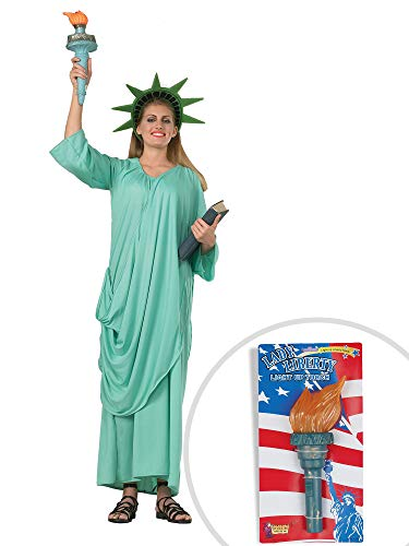 Statue of Liberty Costume Kit Adult Standard with Light Up Liberty Torch ()