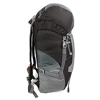 Backpack in Lightweight, Waterproof and Durable Material from CrowsRock (Black). Perfect Daypack for Hiking, Travel, Camping and Outdoor Activities. Explore the World Today with this High Quality Backpack.